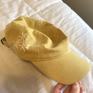 Accessories - Hand embroidered yellow hat